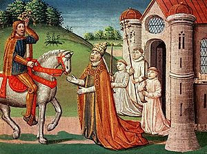 Charlemagne and Pope Adrian I