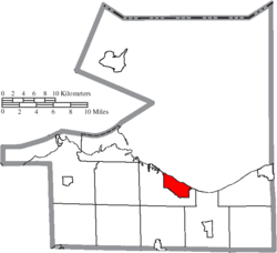 Location of Huron in Erie County