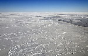 NASA's DC-8 Flying Over the Weddell Sea