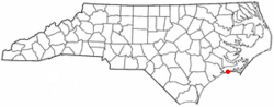 Location of Emerald Isle, North Carolina
