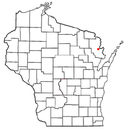 Location of Middle Inlet, Wisconsin