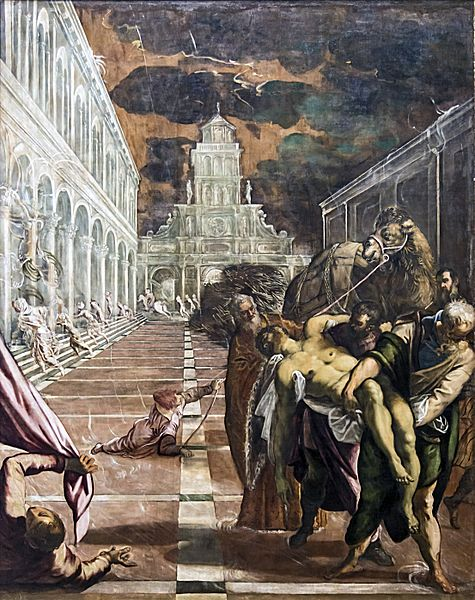 Accademia - St Mark's Body Brought to Venice by Jacopo Tintoretto