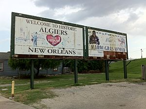 Algiers sign (Algiers Point, New Orleans, Louisiana) 001