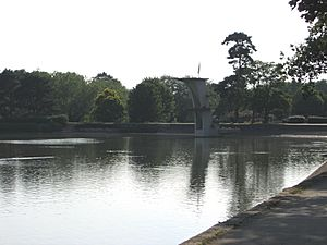 Coate water diving board