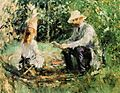Eugene Manet and His Daughter in the Garden 1883 Berthe Morisot