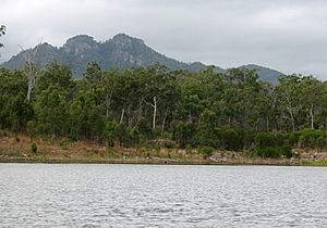 Mt Castletower from Lake Awoonga