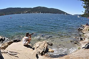 Photographer at Huntington Lake CA