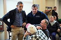 President Barack Obama Tours Storm Damage in New Jersey 7