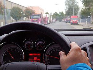 Speedometer-in-driving-car