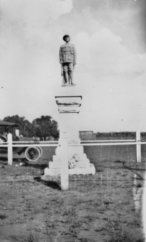 War memorial at Kaimkillenbun Queensland 1920f