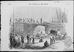 Balt. Civil War - 8th Massachusetts regiment repairing RR bridges from Annapolis to Washington