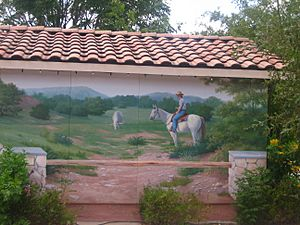 Cowboy mural in Bandera, TX Picture 099