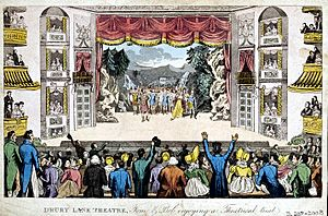 Cruikshank Pierce' Egan's Real Life - Drury Lane Theatre 1821