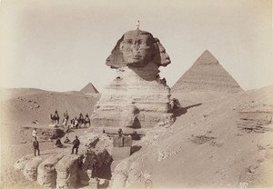 Sphinx-and-the-Pyramids-of-Ghiza-by-Facchinelli,-BNF-Gallica