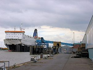 Zeebrugge Ferry Berth - geograph.org.uk - 428011