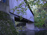 Ada Michigan Covered Bridge downstream underside DSCN9708
