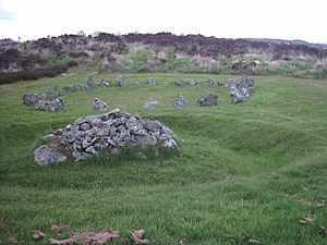 Co. Tyrone, Beaghmore A Stone Circle and Cairn