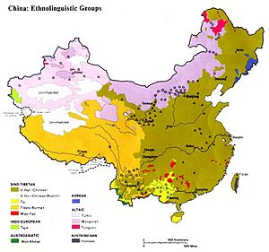 Ethnolinguistic map of China 1983