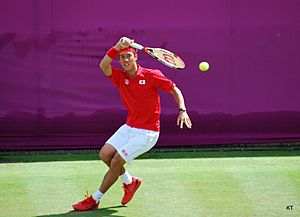 Kei Nishikori at the 2012 Summer Olympics