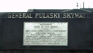 Pulaski Skyway northbound plaque