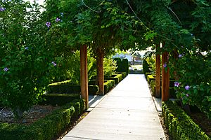 View of Path in the Rose Garden, Highlands Grange Park, Kennewick WA