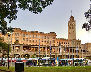 Central railway station, Sydney at sunset