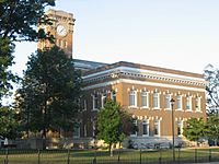 Jackson County Courthouse in Brownstown, southern side and front