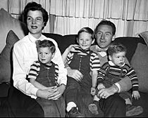 James Whitmore family 1954
