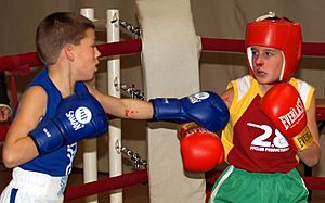 Boxing children - bloody nose