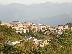 A view of Dhankuta hill town