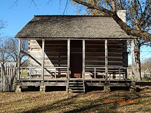 Front view of the Upshaw House, Dalton, Arkansas