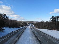 Interstate 89 northbound, Hartford VT