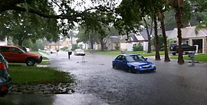 Largo, FL street flooding during TS Debby, June 2012