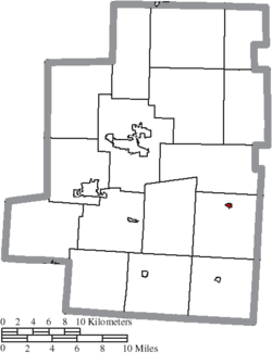 Location of Chesterville in Morrow County