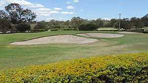 Oxley Golf course, bunkers at the 9th hole, 2014