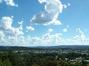 Stanthorpe township (south-west aspect) taken from Mt Marlay lookout, Lock Street Stanthorpe Queensland Australia