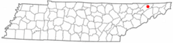 Location of Surgoinsville, Tennessee