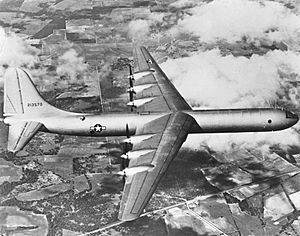 XB-36 first flight