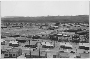 """Panorama of Boulder City, Nevada from Water Tank Hill showing construction progress to date."" - NARA - 293701"