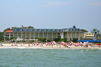 Cape May Congress Hotel from the sea