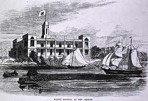 Marine Hospital at New Orleans engraving a010377