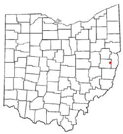 Location of Hopedale, Ohio