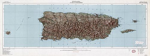 Puerto Rico Map Topographic fixed