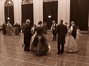 Quadrille set five person set colonial ball at the Albert Hall