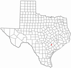 Location of Shiner, Texas
