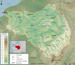 Topographic map of the Seine basin (English png).png
