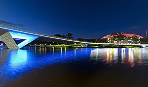Torrens River at night