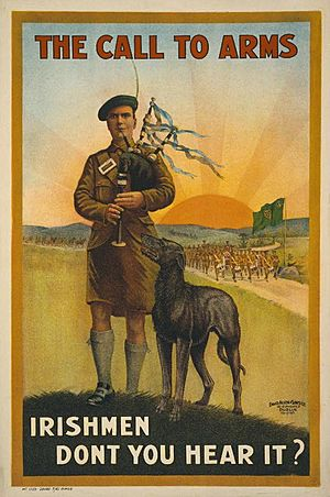WWI Irish recruiting poster LOC cph.3g10979