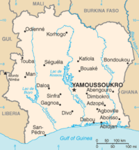 Location within Côte d'Ivoire