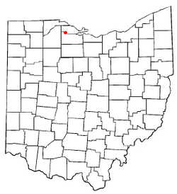 Location of Elmore, Ohio